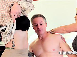 mummy detective Alura Jenson 3some intercourse
