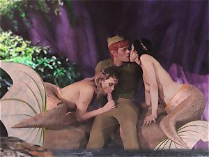 molten mermaid three-way with Aiden Ashley and Mia Malkova