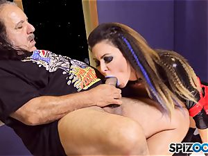 Jessica Jaymes is creamed by mature dude
