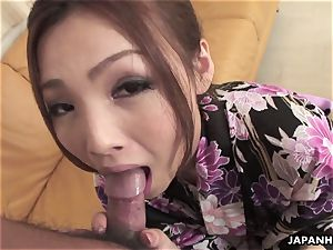 ginger-haired mature babe gargling a ginormous weenie