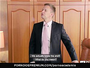 pornography ACADEMIE Lana Rhoades luvs boinking French chisel