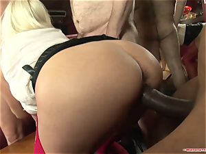 Michelle Thorne and youthful mega-slut gang-fuck fuck with group