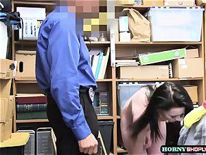 white officer humps nubile Athena Rayne moist fuckbox so deep and rock-hard