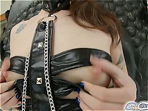 Cumforcover Misha Cross is drenched in jism