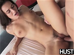 adorable Lana Rhoades slit spread by tough screwing wood