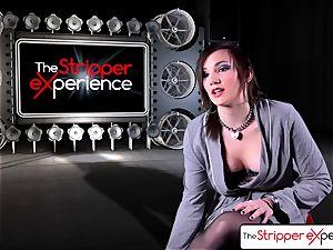 The Stripper practice - Nikki riding a humungous hard rod