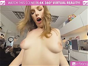 VRBangers.com Hairdresser Ella fucked hard and facial