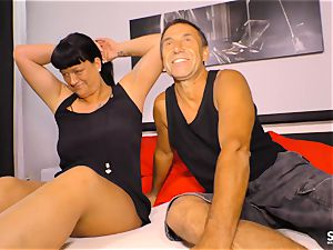 SEXTAPE GERMANY - pov orgy with inexperienced German duo
