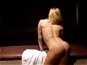kinky masseur makes Krissy Lynn shake after sensuous love making