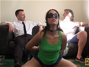 blindfolded victim Liz Rainbow gasped and plumbed by Pascal