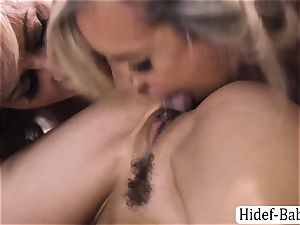 3 whores Cherie DeVille, Alexis Fawx and Brandi enjoy sizzling gang fucky-fucky