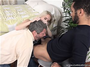 Cadence Lux Makes twat spouse eats men spunk