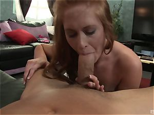 Amber prompt is a redheaded super-naughty stunner