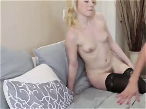 Adult male screws his new wifey Alexis Fawx and her daughter