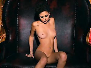 slender diminutive Ariana Marie jaw-dropping rubber solo getting off