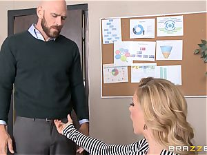 cougar chief Cherie Deville gets shafted by a ample dicked worker
