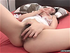 japanese honey uses her sex fucktoy to get off like a lady