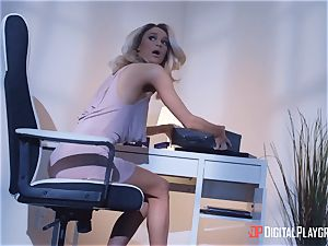 Adriana Chechik and Emma Hix leap on some big pulsing lollipop