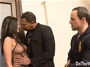 dark haired bi-racial hotwife rectal