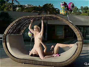 glad birthday girl/girl poon knead fun