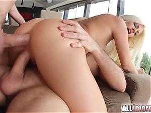 Allinternal wonderful ash-blonde in internal cumshot 3some joy