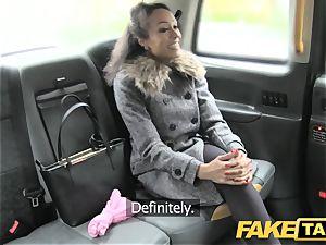 fake taxi super-sexy youthful ebony female in bodysuit