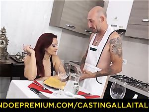 audition ALLA ITALIANA - busty new-cummer goes for anal invasion hump