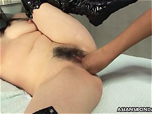 japanese suffers raunchy fingerblasting and a nipple torment