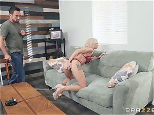 Smoking warm blonde Astrid starlet inhaling penis
