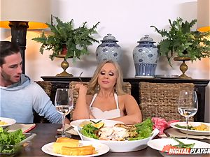 Julia Ann and Lily Rader get ultra-kinky at the dinner table