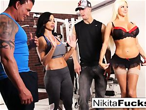 Nikita Von James joins a workout fuckfest