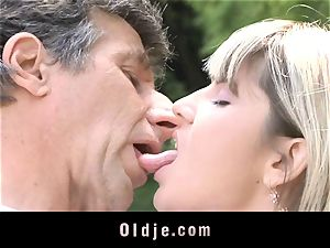 Gina Gerson gets anal invasion from an elderly fellow