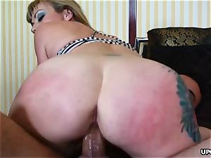 fuck-stick deep-throater Adrianna Nicole got a hardcore anal invasion