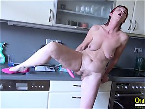 OldNannY Mature and buddies 3some hard-core