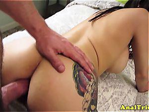 cum-shot enjoying Alexa Aimes gets rectally pounded