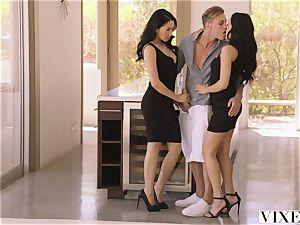 VIXEN molten Latina Shares Her beau With roomy