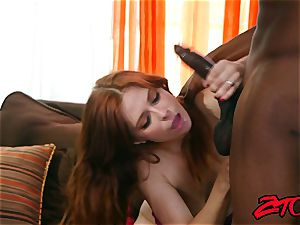 Redheaded Penny Pax Vs ebony dick