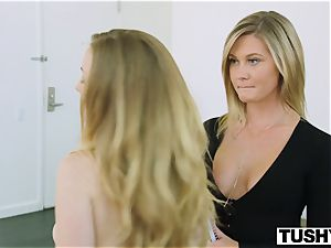 TUSHY chief dame Tests Her Assistants ass-fuck limits