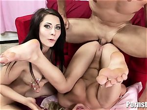 This red-hot threesome completes Up In Getting booty jizzed