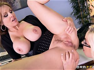 manager Julia ann tears up her jaw-dropping assistant Olivia Austin