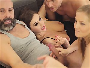 LOS CONSOLADORES - steaming swinger fourway with warm honeys