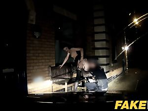 fake Cop Cheeky youthful lass enjoys brave outdoor lovemaking