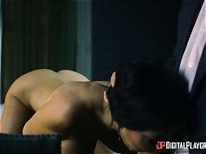 brit hotty Jasmine Jae jizzed in her jaws after a rock hard boink
