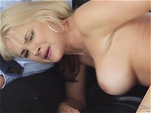 greedy wife Sarah Vandella gets her appetite suppressed by bbc