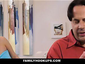 FamilyHookUps - naughty teen plumbs father acquaintance
