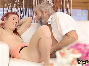 humungous aged s slurping unexpected experience with an older gentleman