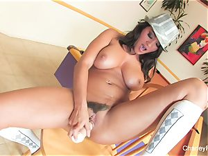 Charley chase's sumptuous solo session on a bar chair