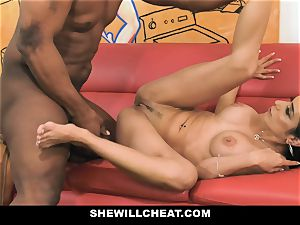 SheWillCheat - warm wife With enormous Rack loves black man rod