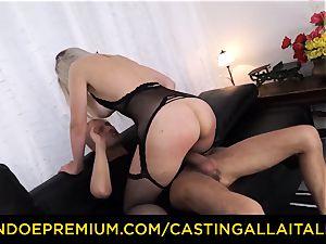 audition ALLA ITALIANA - huge-chested Italian blonde bootie fucked