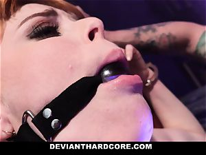 DeviantHardcore - warm redhead Gets facehole porked